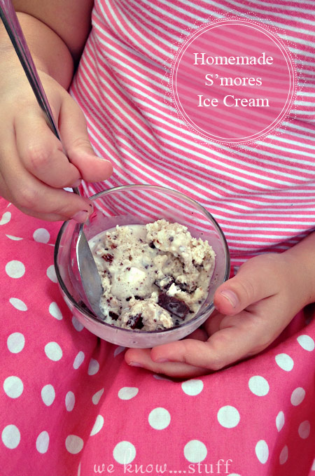 My kids are pretty obsessed with all things summer right now. So when they asked me to make a homemade Smores Ice Cream Recipe, I wasn't at all surprised.