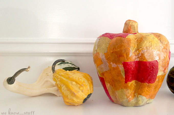 This Patchwork Pumpkin started out as a kids craft, but ended up as a Me craft. It was a great way to unwind and make my own keepsake Halloween decoration.