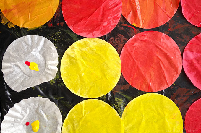 We love simple, recyclable crafts that families can do together! Our painted coffee filter flowers craft turns into a fun decoration for your child's room!