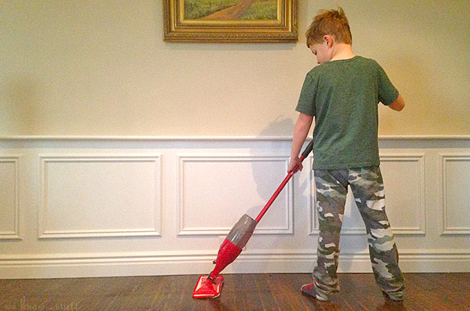 Cleaning with Kids can be fun! I just make sure that their chores are age-appropriate, so they don't feel frustrated or overwhelmed by their tasks.