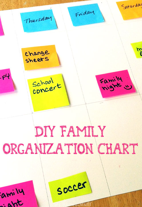 Our DIY Family Organization Chart is a cinch to make and is a great tool for helping your child on the Autism Spectrum get more organized. We use ours all of the time!