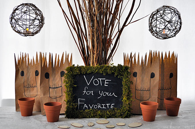 Check out this amazing Guardians of the Galaxy themed tablescape. Groot would definitely approve of this Kids Choice Awards Party!