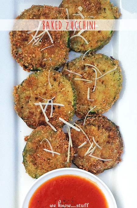 Zucchini is easy to grow when starting your first garden. This easy baked zucchini parmesan recipe goes great with a side of spaghetti and marinara sauce.