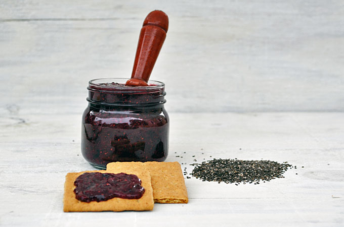 This homemade strawberry chia seed jam recipe is so easy to make. This freezer jam uses chia seeds to gel the jam and eliminates the need for pectin. Homemade jam rules!