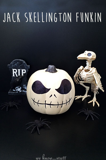 The Pumpkin King is here! Our Jack Skellington Halloween Funkin Craft takes just 5 minutes to make. This perfectly spooky Sharpie craft is great for kids!