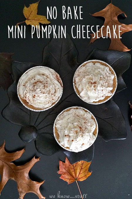 This effortless pie recipe uses just a few simple ingredients to create a no bake mini pumpkin cheesecake recipe that everyone will love.