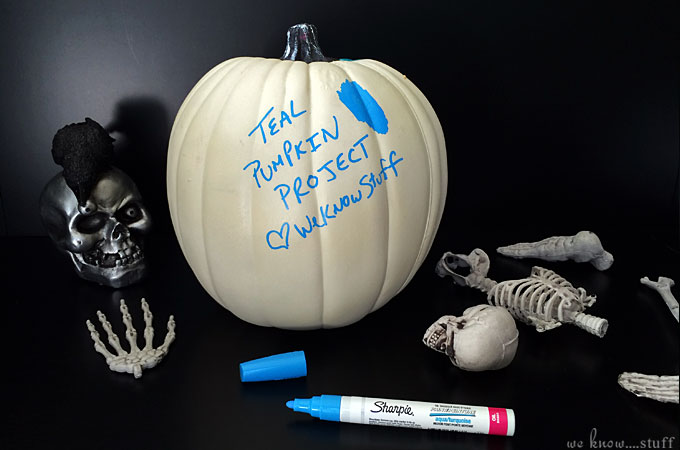 Halloween Funkin Craft: We've pledged to support the FARE Teal Pumpkin Project to create a safer, happier Halloween by offering non-food treats for trick-or-treaters.
