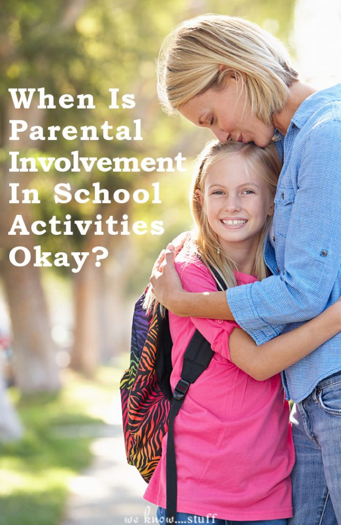 When is parental involvement in school activities appreciated? Our Education Writer honestly weighs in on when it's great and when it's just too much.