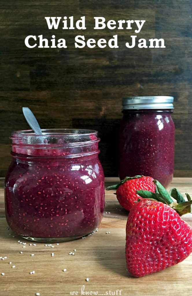 This homemade wild berry chia jam is a great way to use up overripe berries like blackberries, blueberries, raspberries, and strawberries. Frozen berries work well too!