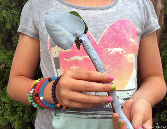 How to Make Hilarious Painted Stick Animals with Tree Branches
