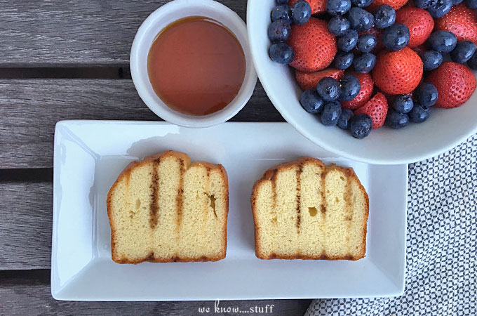 Our Grilled Pound Cake With Macerated Berries is a perfect dessert for summer. Simple and delicious, it can be made in mere minutes and goes quite well with vanilla ice cream!