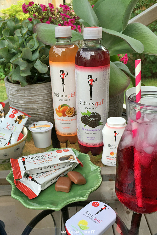 Skinnygirl products offer healthy snacking and drinking solutions that allow people to indulge without the guilt. The Skinnygirl Brand focuses more on portion control instead of dieting so all of these items are appropriately sized for snacking.