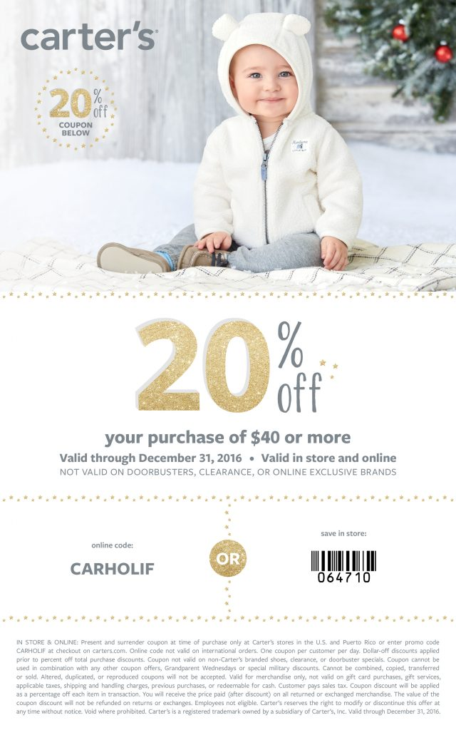 Carter's Coupon Code: Stock Up On Comfy Pajamas For Your Kids