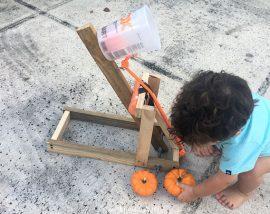 Pumpkin Catapult for Kids
