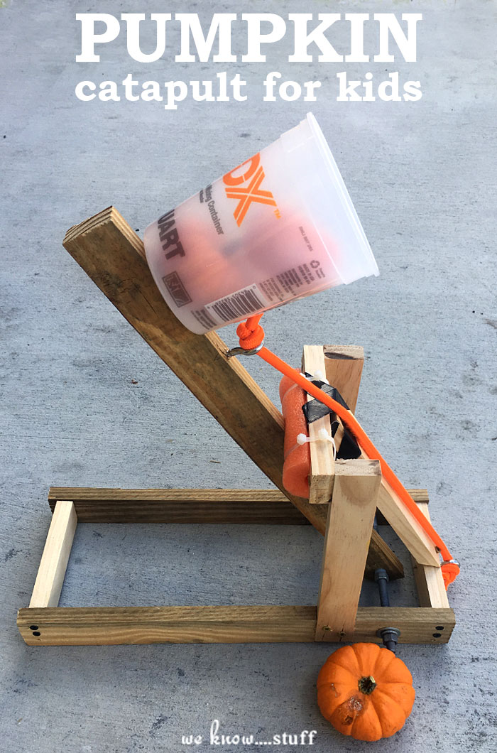 This fall-themed STEM project supplied us with hours of fun! Who wouldn't love learning about the Scientific Method by making a pumpkin catapult for kids?