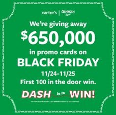 OshKosh Black Friday Sweepstakes