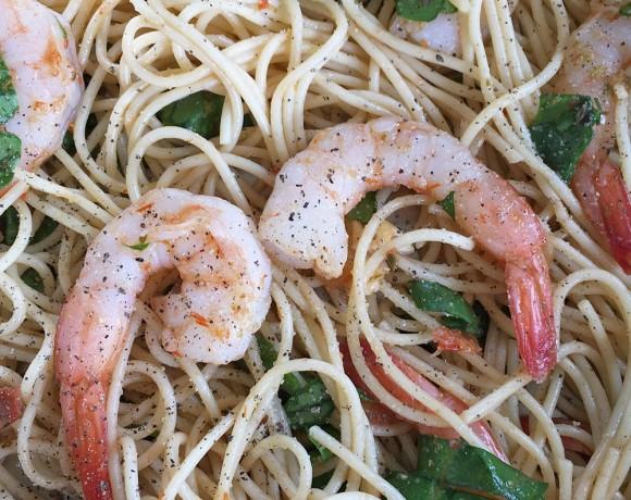 Chilled Pesto Pasta Shrimp Recipe