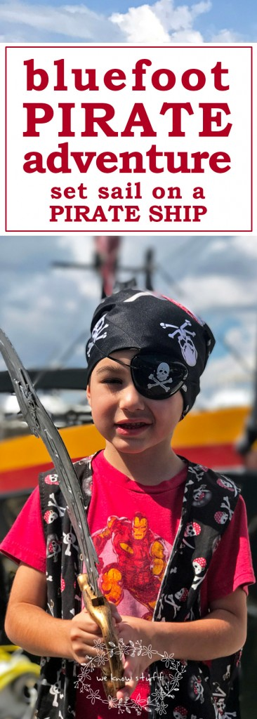 The other day, we went on a Bluefoot Pirate Adventure in Fort Lauderdale, Florida where we helped pirates find hidden treasure and ward off attacks of rival pirates with water cannons. We learned how to talk like a pirate talk and how to dress like one too!