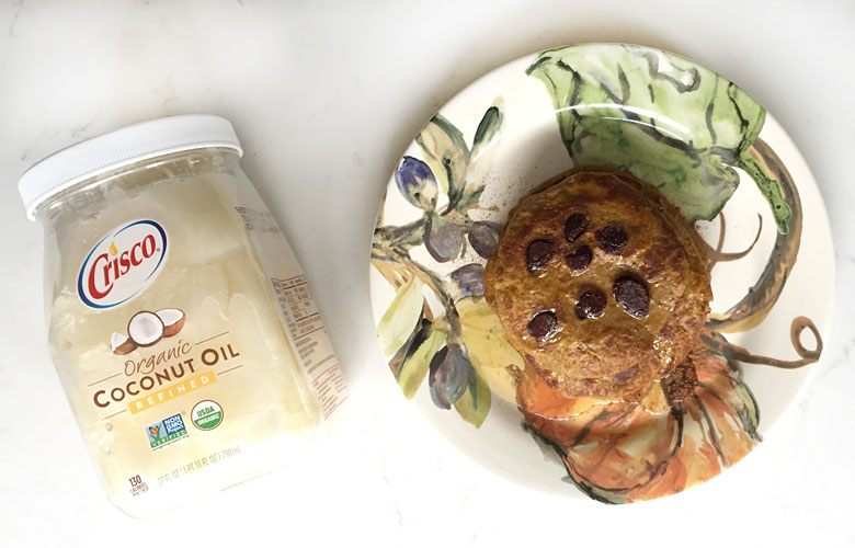 Fill your kid's up before school with our gluten free pancakes made with coconut flour and pumpkin! One of our best kid friendly recipes for picky eaters!
