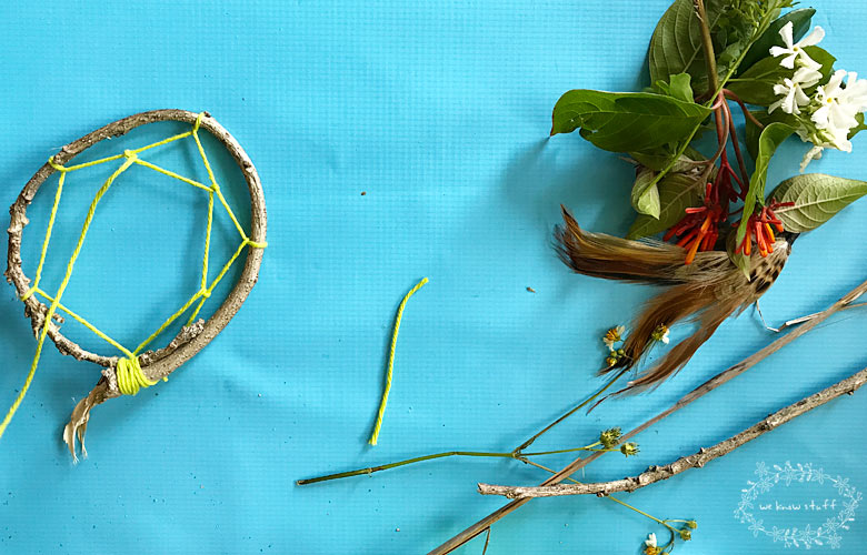 Our Dream Catcher Craft For Kids will help get rid of bad dreams and makes a lovely decoration for any child's room. Bring the outdoors in for Summertime!