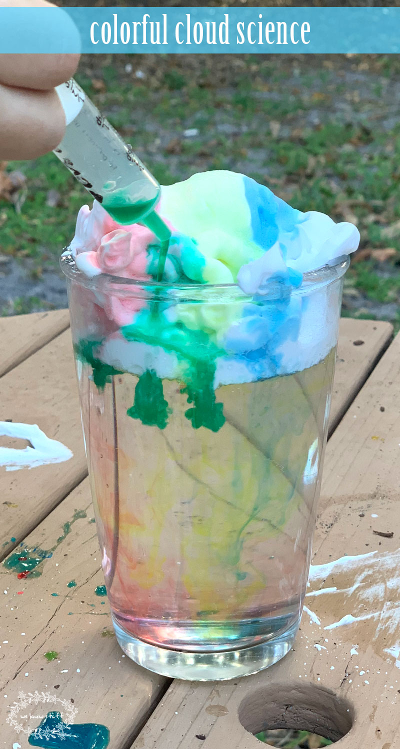 This cloud science experiment is a fun and easy way to explain weather to young children. This is one of our favorite science experiments to do at home!
