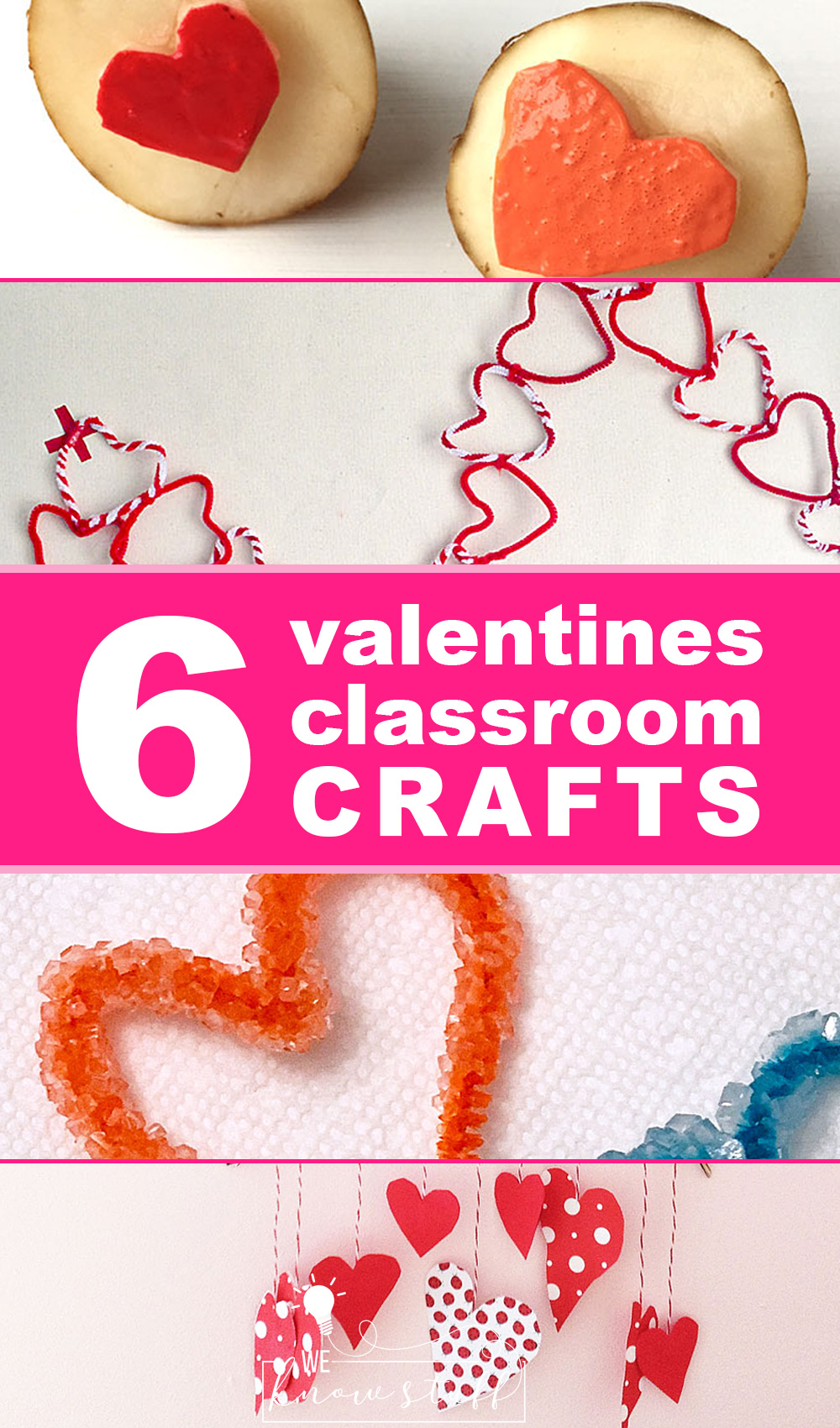 6 Classroom Crafts to Valentine\'s Day #valentinesday #classroomcrafts #valentinescrafts