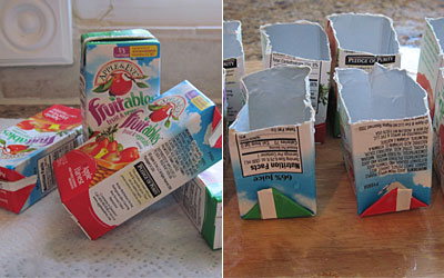 Juice box containers