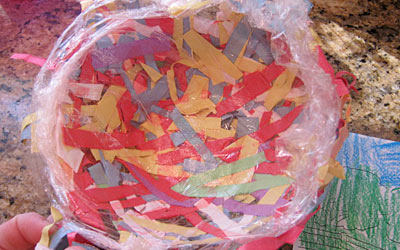 Kids craft construction paper birds nests we know stuff these adorable construction paper birds nests are a fun way to use up leftover bits of negle Choice Image