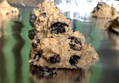 My kids love cookies, so I'm always looking for ways to make them healthier. These fiber rich Oatmeal Cookies With Cranberries do the trick and taste great!