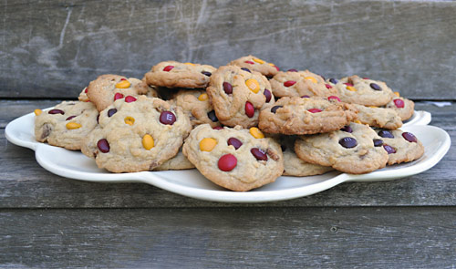 These Chewy Caramel Mystery Cookies are a delicious way to use up leftover Halloween candy. You can sub in whatever you have on hand as long as the candy is similar in nature!