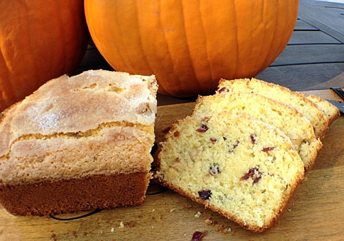 My homemade Cranberry Corn Bread uses corn meal and dried cranberries. Ready in a flash, it's a perfect after school snack to tide kids over before dinner.