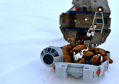 What could be better than baking up a batch of deliciously simple Star Wars Wookie Cookies with your kids on a snow-filled afternoon? Nothing!